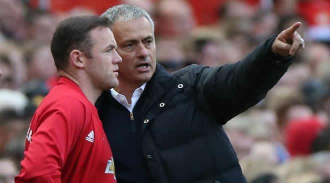 Wayne Rooney dan Jose Mourinho