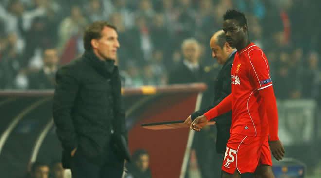 Brendan Rodgers dan Mario Balotelli