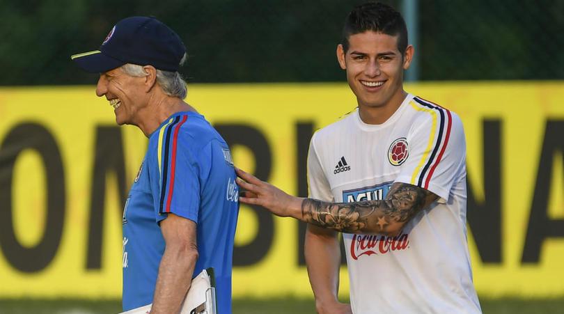 James Rodriguez dan Jose Pekerman