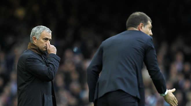 Jose Mourinho dan Slaven Bilic