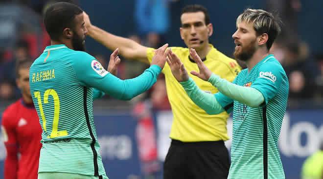 Rafinha dan Lionel Messi