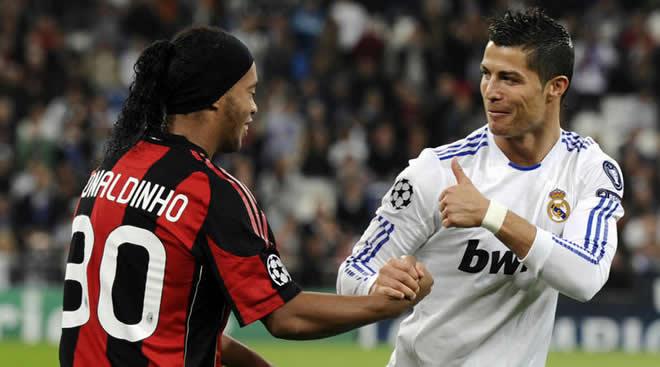 Ronaldinho dan Cristiano Ronaldo