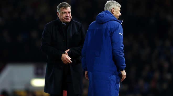 Sam Allardyce dan Arsene Wenger
