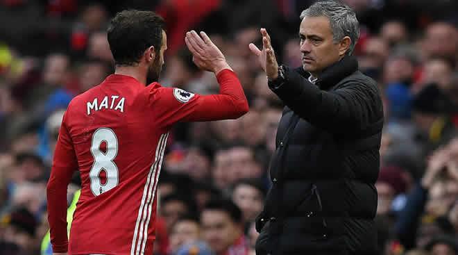 Juan Mata dan Jose Mourinho